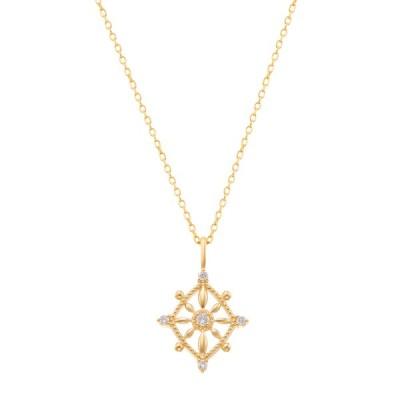 K10イエローゴールドダイヤモンドネックレス