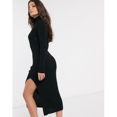 エイソス レディース ワンピース トップス ASOS DESIGN chunky roll neck midi dress with splits