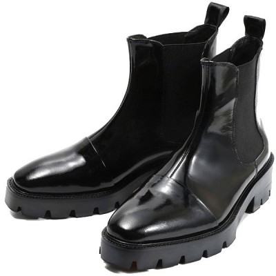 チェルシーブーツ ブーツ 本革 ショートブーツ サイドゴアブーツ シークレットシューズ ブラック 柔軟性 通気性 送料無料 メンズ
