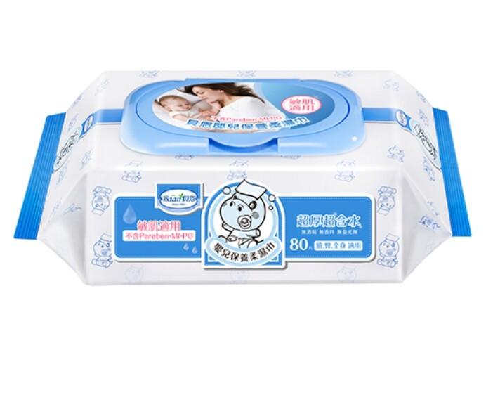 貝恩 baan new嬰兒保養柔濕巾80抽24包
