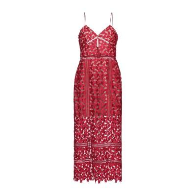 SELF-PORTRAIT ロングワンピース&ドレス レッド 12 ポリエステル 100% ロングワンピース&ドレス