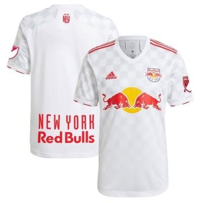 アディダス メンズ Tシャツ トップス New York Red Bulls adidas 2021 1Beat Authentic Jersey