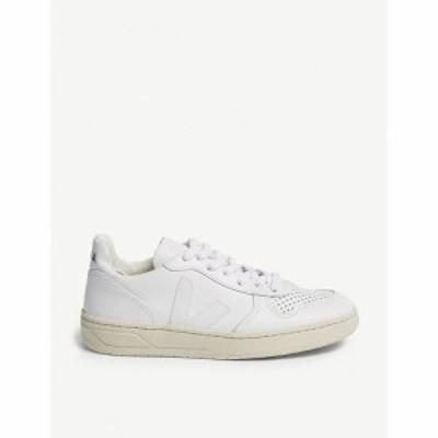 ヴェジャ VEJA レディース スニーカー シューズ・靴 V-10 leather trainers WHITE