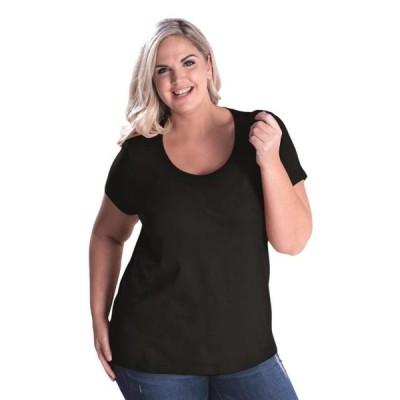 レディース 衣類 トップス LAT Curvy Collection Women's Scoopneck Tee Tシャツ