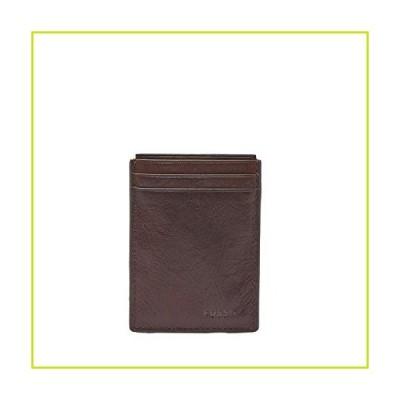 Fossil Men's Neel Magnetic Card Case Leather Wallet - Brown【並行輸入品】