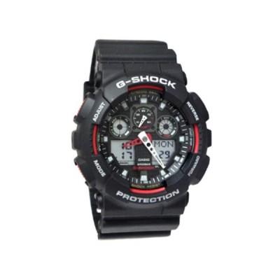 腕時計 カシオ Casio GA100-1A4 G-Shock X-Large Red Black Ana/Digi  Men Watch NEW