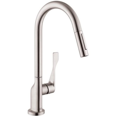 AXOR Citterio Luxury 1-Handle 17-inch Tall Stainless Steel Kitchen Fau