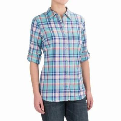 ディッキーズ ブラウス・シャツ Plaid Roll-Up Shirt - Elbow Sleeve Plaid Jordy Blue