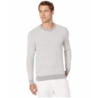 マイケルコース メンズ ニット・セーター アウター Zigzag Stripe Crew Sweater Heather Grey