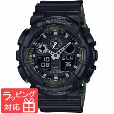 CASIO カシオ G-SHOCK ジーショック ミリタリー メンズ アナデジ 腕時計 GA-100L-1A 海外モデル ブラック×カーキー カジュアル