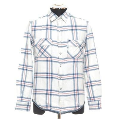 ROSE BUD COUPLES ローズバッド カップルズ チェックシャツ サイズS コットン メンズ ホワイト