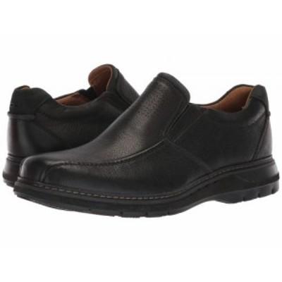 Clarks クラークス メンズ 男性用 シューズ 靴 ローファー Un Ramble Step Black Leather【送料無料】