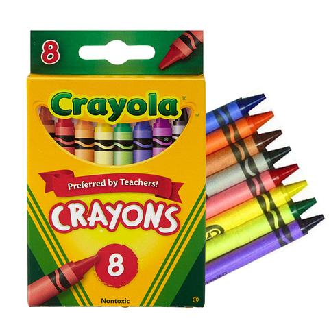美國crayola繪兒樂 彩色蠟筆8色