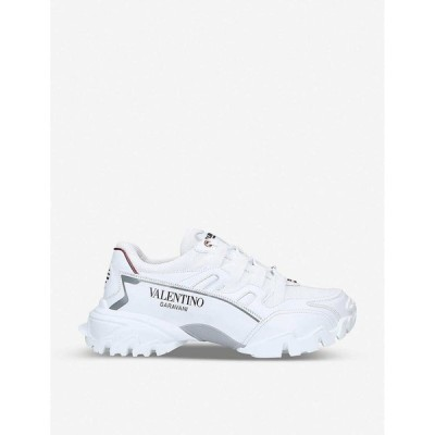 ヴァレンティノ VALENTINO GARAVANI メンズ スニーカー シューズ・靴 Climbers leather trainers WHITE