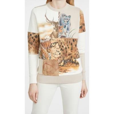ステラ マッカートニー Stella McCartney レディース スウェット・トレーナー トップス Nature Patchwork Sweatshirt Parchment Jersey