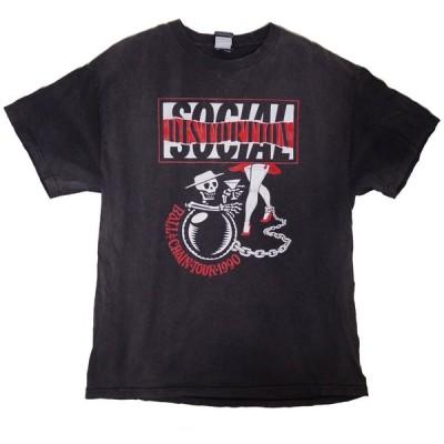 Social Distortion / ソーシャル・ディストーション - BALL & CHAIN TOUR 1990 / Black 古着Tシャツ(Lサイズ)