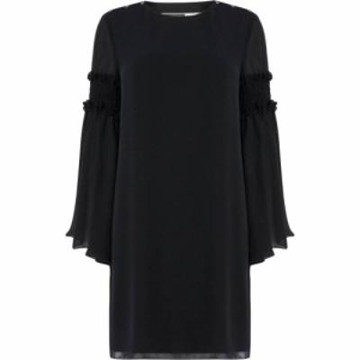 スポーツマックス Sportmax Code レディース ワンピース ワンピース・ドレス Palermo dress with ruffle detail flared sleeve Black