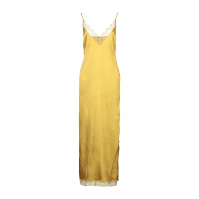 カルラ ジー CARLA G. ロングワンピース&ドレス オークル 40 アセテート 73% / シルク 23% / ポリウレタン 4% ロングワン