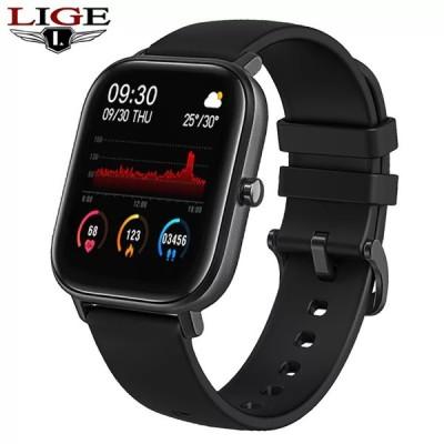 Ligeメンズ レディース  コネクテッドウォッチp8,1.4インチ タッチスクリーン,身体活動と血圧モニター,AndroidiOSスマートフォン