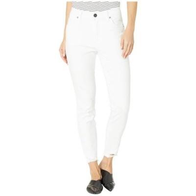 カットフロムザクロス レディース 服 デニム Connie High-Rise Ankle Skinny in Optic White