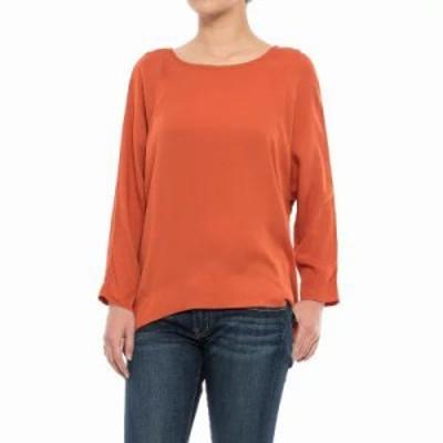 スペシャリーメイド ブラウス・シャツ Rayon Twill Shirt - Long Sleeve Dark Orange