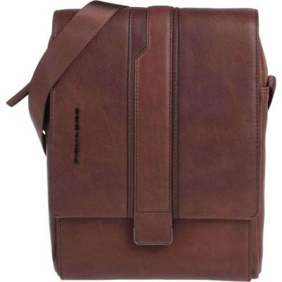 ピクアドロ PIQUADRO メンズ ショルダーバッグ バッグ Cross-Body Bags Dark brown