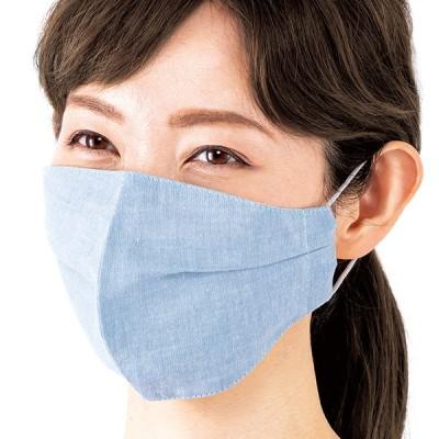 国産 岡山デニムの小顔マスク 同色2枚組