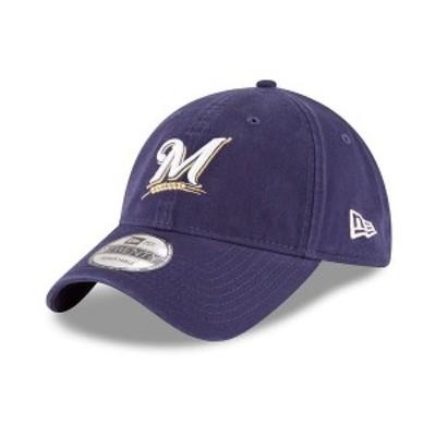 ニューエラ メンズ 帽子 アクセサリー Milwaukee Brewers On Field Replica 9TWENTY Fitted Cap Navy