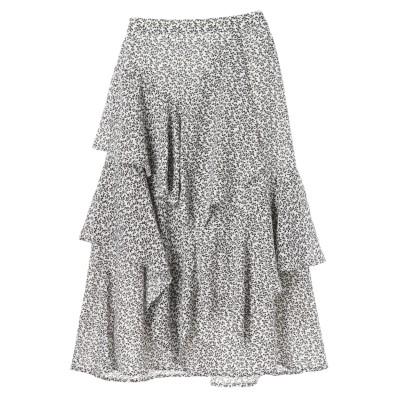 ・K 単色花柄変形ティアードスカート