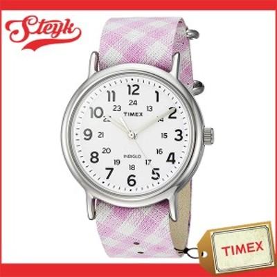 TIMEX TW2R24200 タイメックス 腕時計 アナログ WEEKENDER ウィークエンダー レディース ホワイト シルバー ピンク カジュアル
