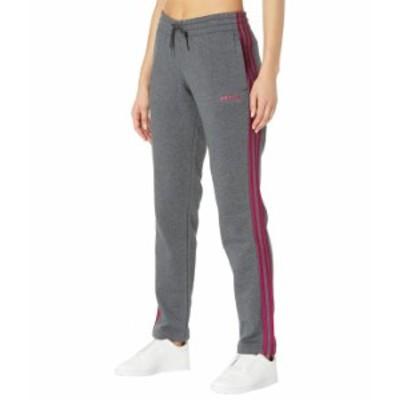 アディダス レディース カジュアルパンツ ボトムス Essential 3-Stripes Fleece Open Hem Pants Dark Grey Heath