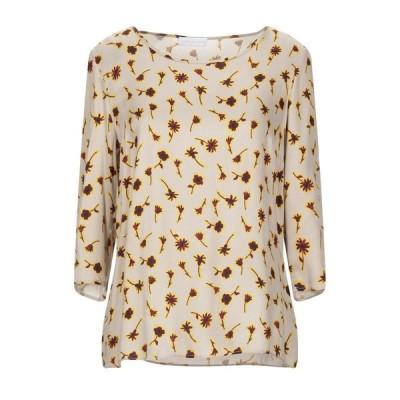 DIANA GALLESI ブラウス ファッション  レディースファッション  トップス  シャツ、ブラウス  長袖 ベージュ