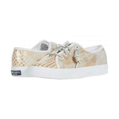 Sperry スペリー レディース 女性用 シューズ 靴 スニーカー 運動靴 Seacoast Houndstooth - White/Gold