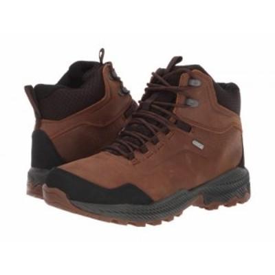 Merrell メレル メンズ 男性用 シューズ 靴 ブーツ ハイキング トレッキング Forestbound Mid Waterproof Merrell Tan【送料無料】