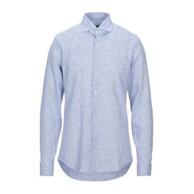 BASTONCINO シャツ アジュールブルー 41 リネン 65% / コットン 35% シャツ