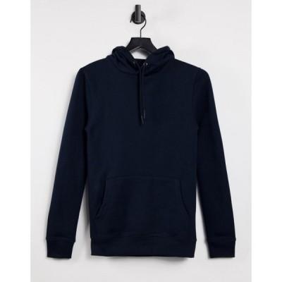 バートン Burton Menswear メンズ パーカー トップス Burton muscle fit hoodie in navy ネイビー