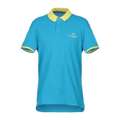 HARMONT&BLAINE ポロシャツ アジュールブルー XS コットン 100% ポロシャツ