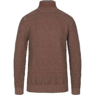 チルコロ1901 CIRCOLO 1901 メンズ ニット・セーター トップス turtleneck Brown