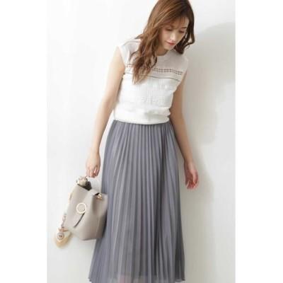 PROPORTION BODY DRESSING/プロポーションボディドレッシング  ラメプリーツスカート◆ ブルー S