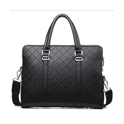 BLB Men's Handbag Briefcase Business Bag One Shoulder Hand Leather Large Capacity Men's Handcuffs Computer Bag (Color : Black, Size : 38cm*8cm*28cm)