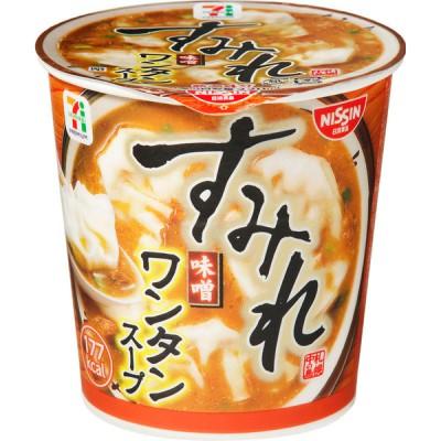 日清食品 セブンプレミアム すみれ 味噌ワンタンスープ 43g