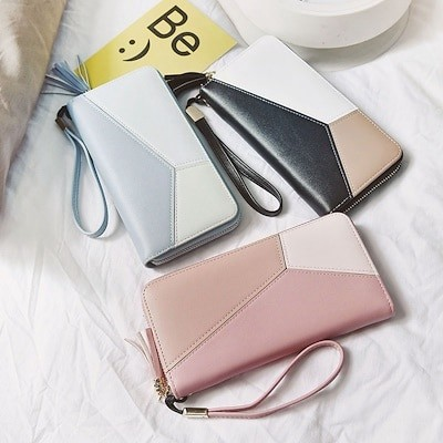 HoneyBag2019女性長財布レディース財布 サイフ コインケース 小銭入れカード ポイントカード 名刺入れ バッグ携帯大容量収納 レザー スマートフォンバックZD1008