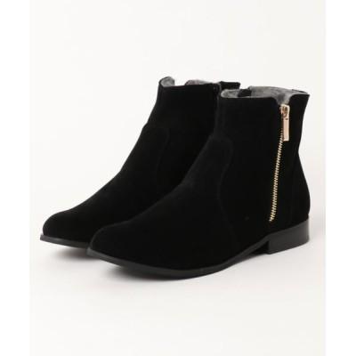 ground green store / PANIER / PA18 40-341 / スエードフラットショートブーツ WOMEN シューズ > ブーツ