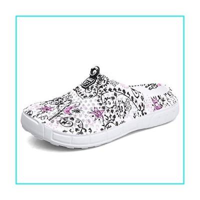 SKYMAIP Women's Mesh Summer Garden Clog Breathable Slippers Beach Sandals 6 Gray Star【並行輸入品】