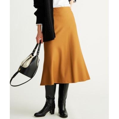 (NIJYUSANKU(SMALL SIZE)/ニジュウサンク エスサイズ)【マガジン掲載】ファインウールフランネル フレア スカート(番号G37)/レディース キャメル系