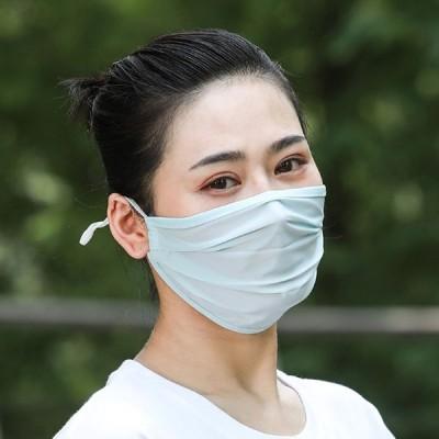 マスク ひんやり 夏用マスク 涼しい 3枚セット マスク 冷感 洗える レディース UVカット 吸湿速乾