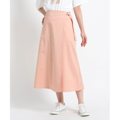 WORLD ONLINE STORE SELECT / 【S~Lサイズあり・洗える】タックベルトミモレスカート WOMEN スカート > スカート