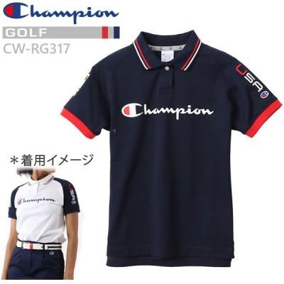 チャンピオン ゴルフ ポロシャツ 半袖 ウィメンズ CW-RG317  370 ネイビー Champion GOLF レディース 日本正規品【N1】