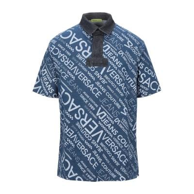 VERSACE JEANS ポロシャツ ブルー 46 コットン 97% / ポリウレタン 3% ポロシャツ