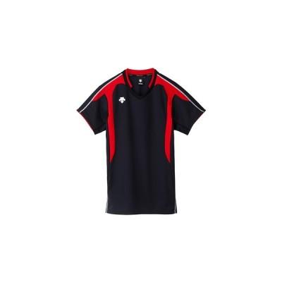 デサント(DESCENTE) 半袖ゲ-ムシャツ ブラック レッド DSS4620-BRD バレーボール